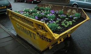 guerrilla gardeners dumpster