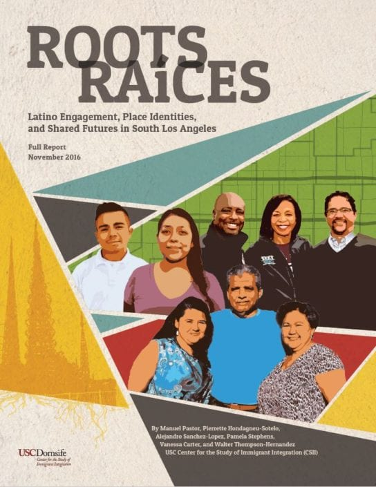 USC Roots Raices report cover design, 2016