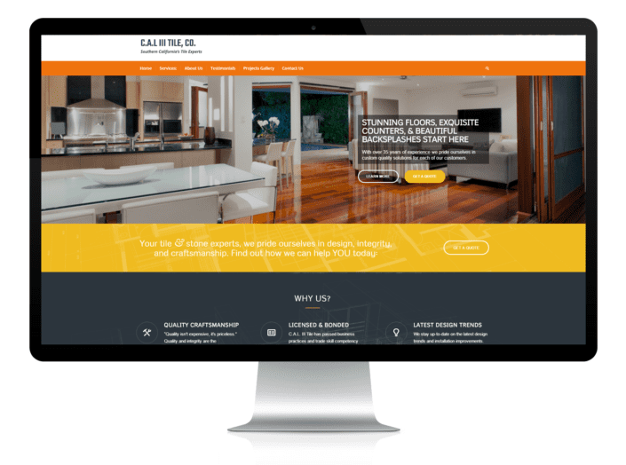 construction service website design