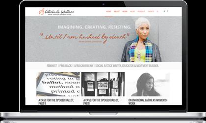 author website design
