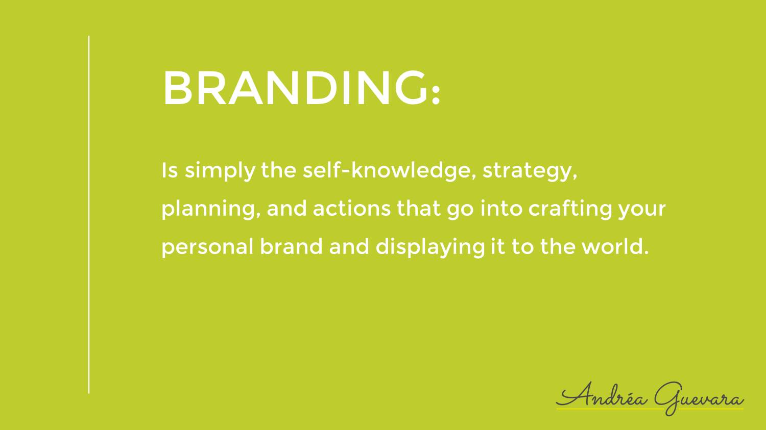 The Definition Of Branding