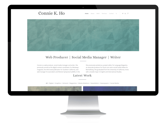 writer website design portfolio