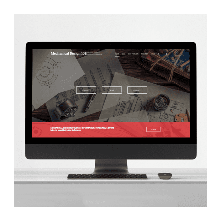 mechanical design education website design