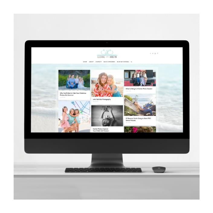 photographer blog design
