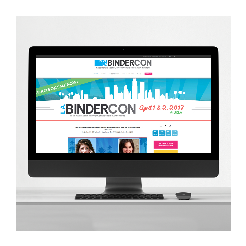 BinderCon Writing Conference Website Design