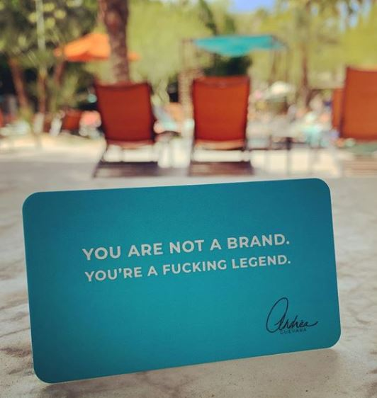 You're not a brand. You're a fucking legend.