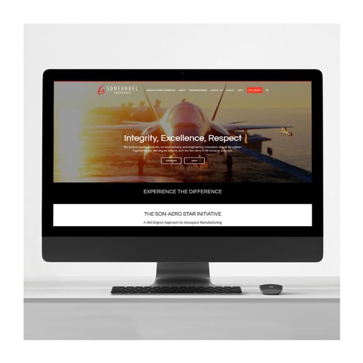 Aerospace Company Branding Website Design