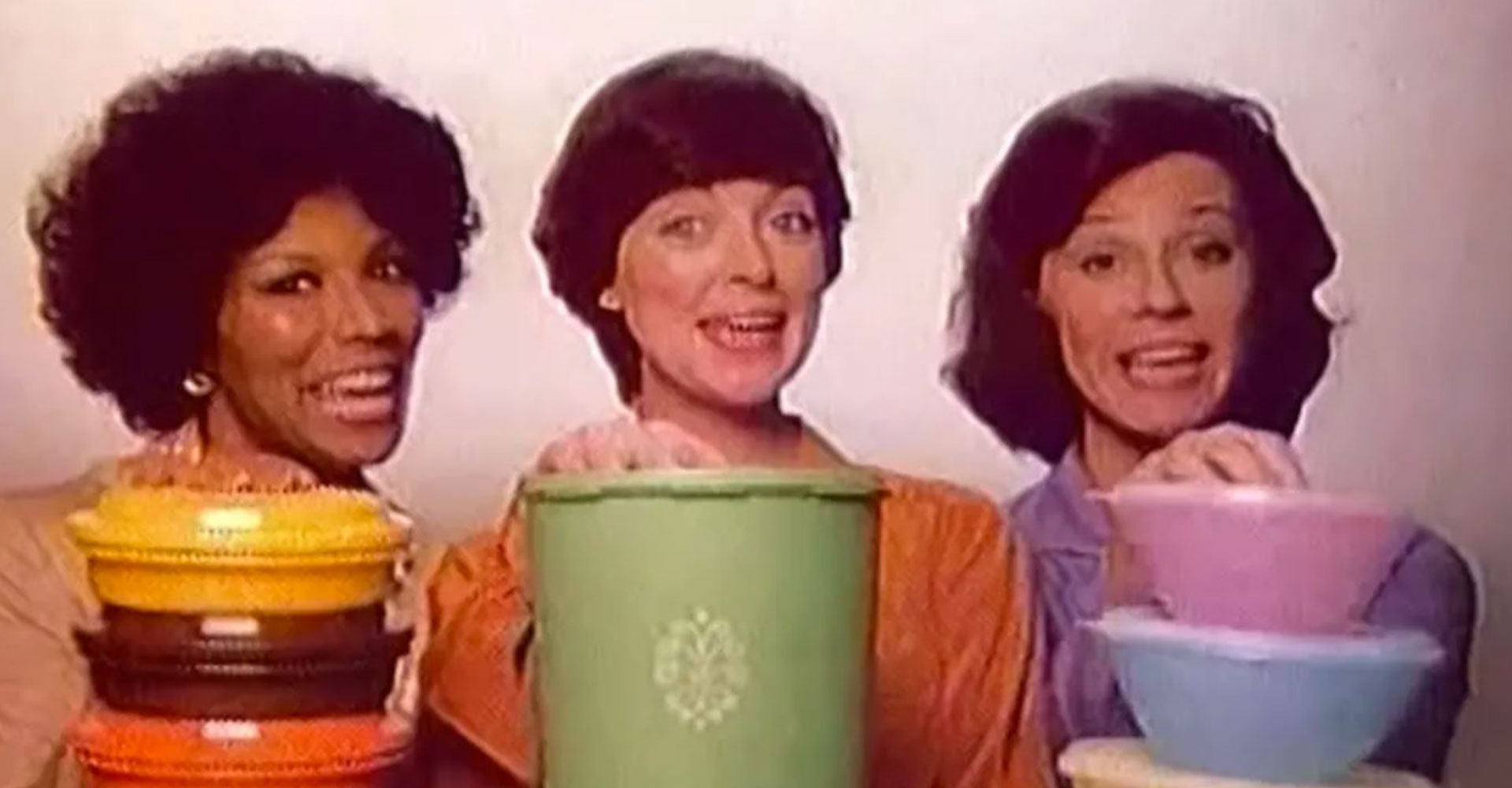women selling Tupperware 1980s
