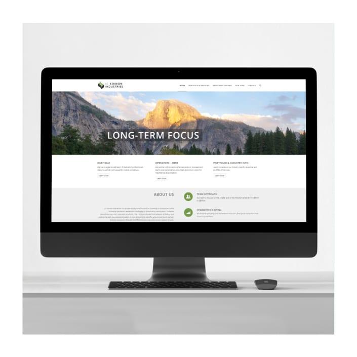 Equity firm website design
