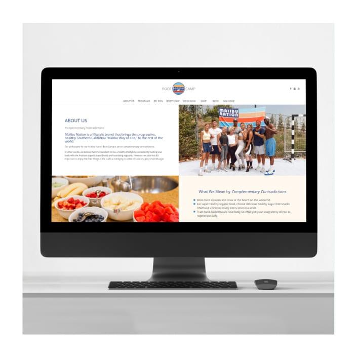 Fitness business website design