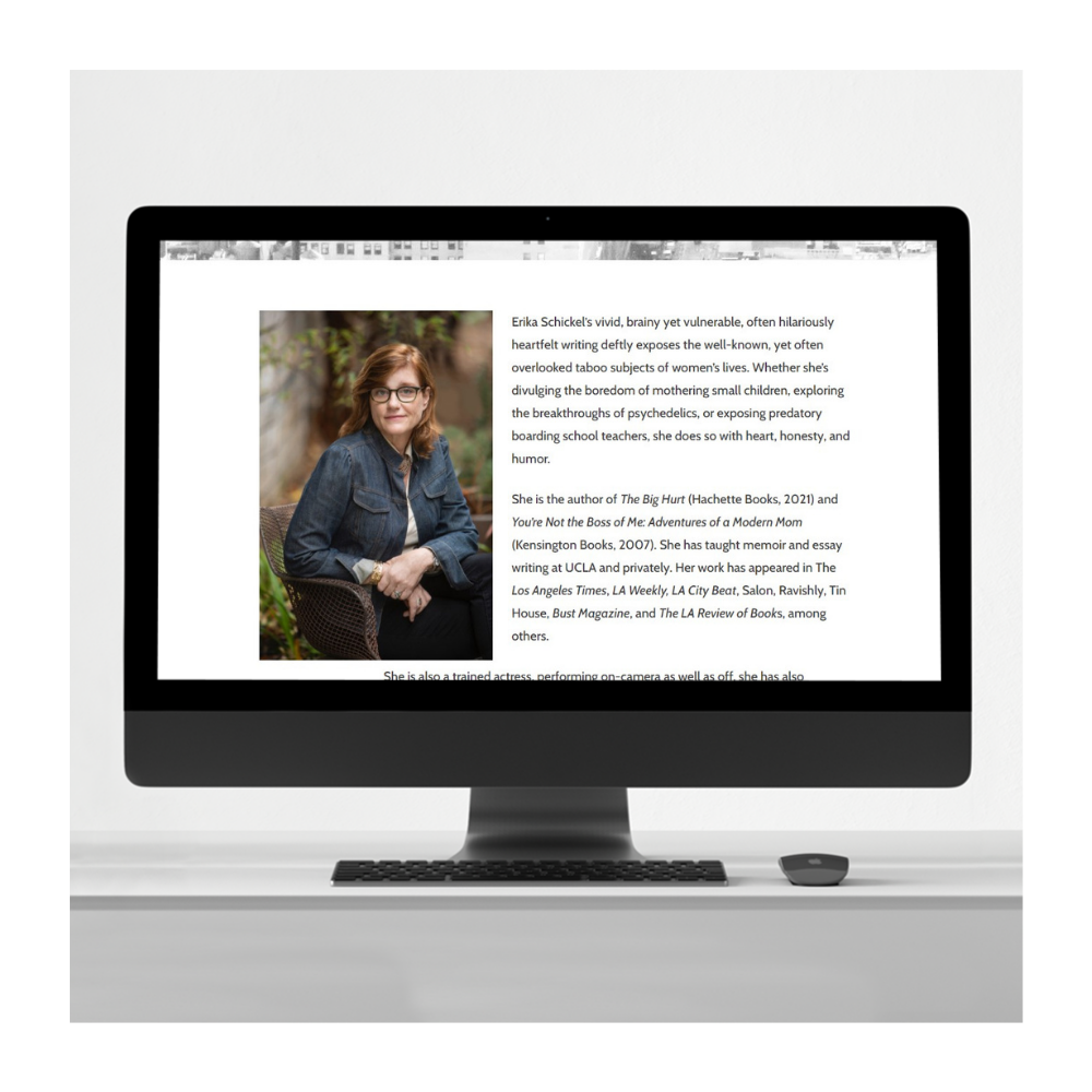 Erika Schickel author website design