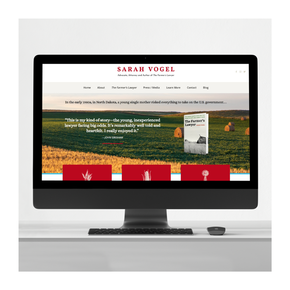 Sarah Vogel author website design